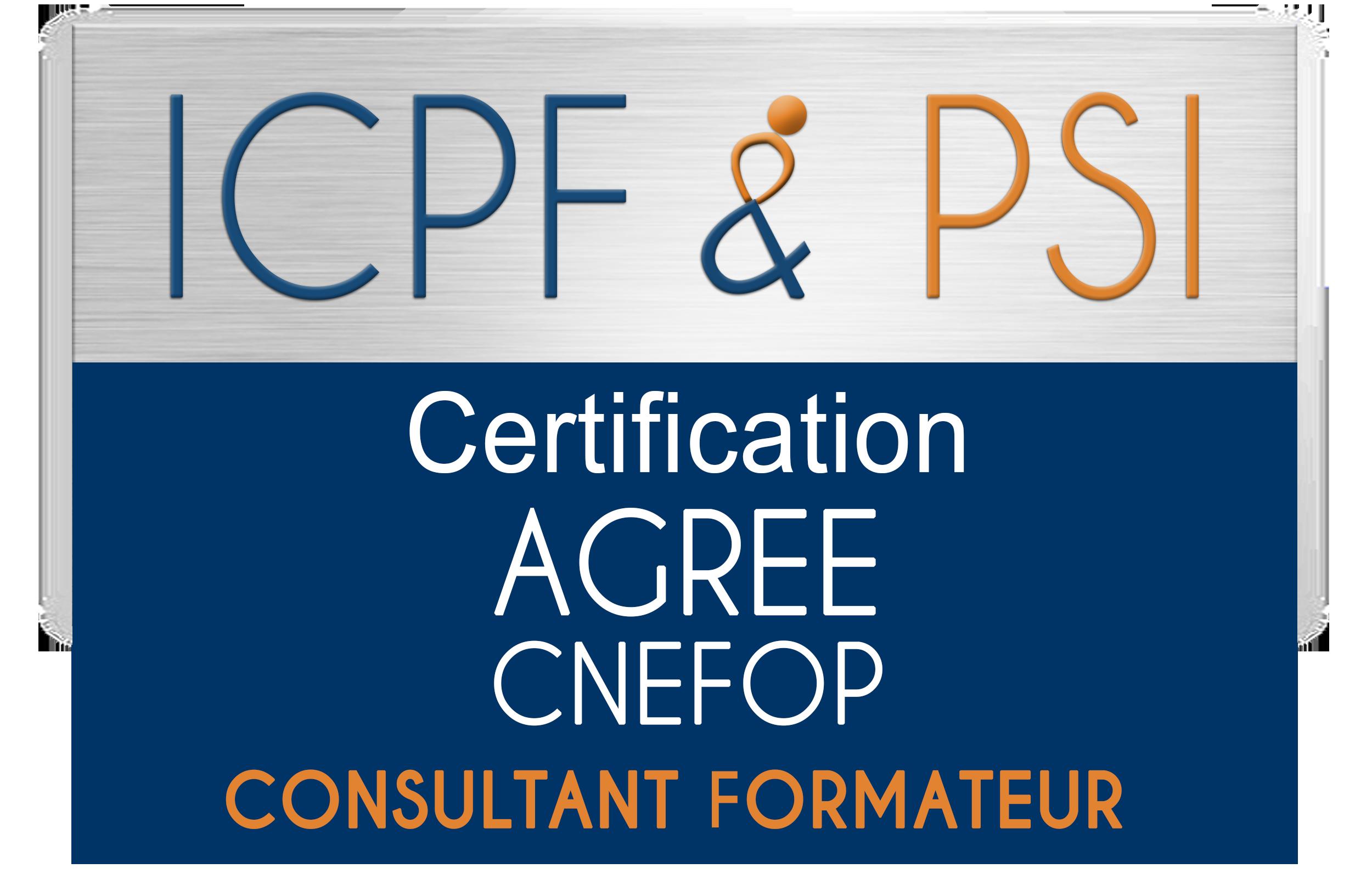 Certification ICPF & PSI consultant formateur